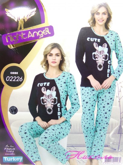 Комплект Night Angel 02226 норма (хлопок) штаны, Турция L/XL, S/M