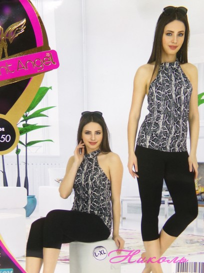 Комплект Night Angel 9550 (хлопок), капри, Турция L/XL, S/M